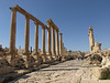 Jerash; along the Cardo Maximus, or main street.