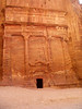 Petra; tomb carved out of the rock