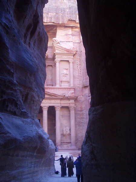 Petra; first view of the Treasury