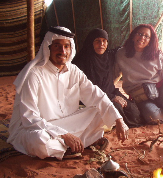 Joy with our Bedouin hosts
