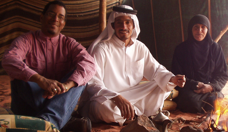 Me with our Bedouin hosts