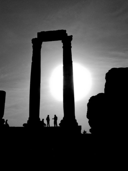 Amman Sunset Silhouette