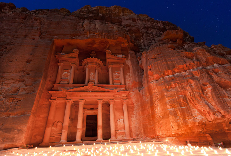 Candle Ceremony at Petra, Jordan