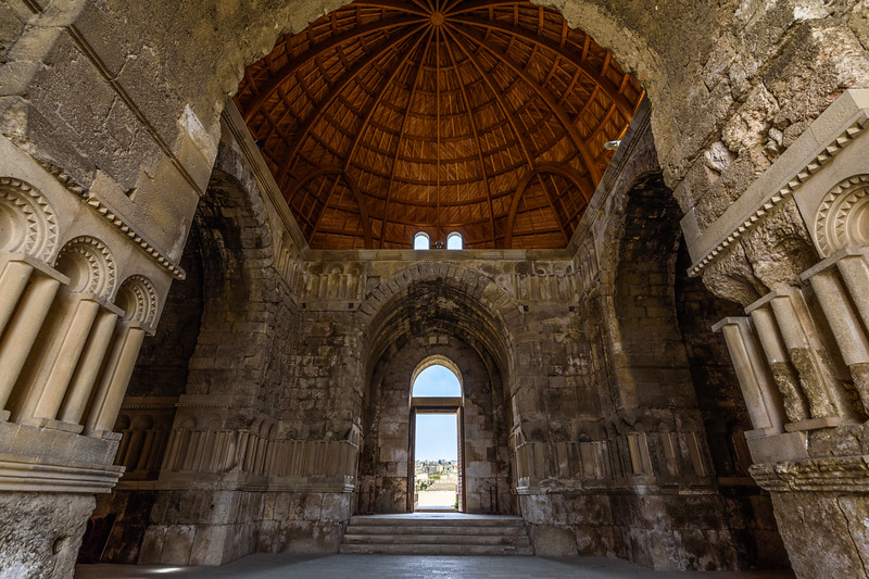 Interior of domed building, Amman