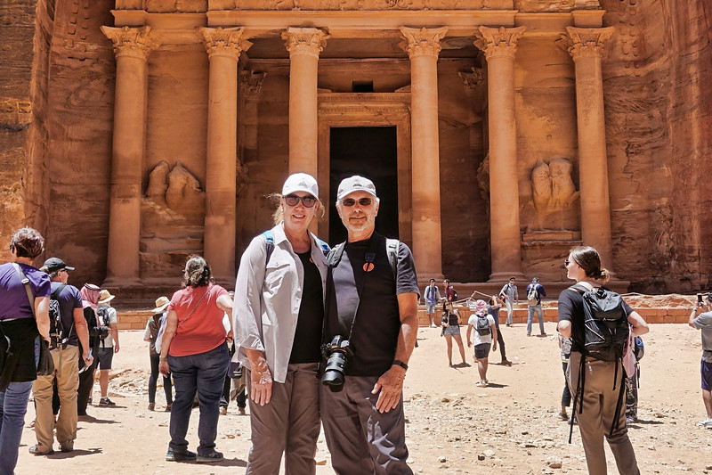 John and Debra at Al Khazneh
