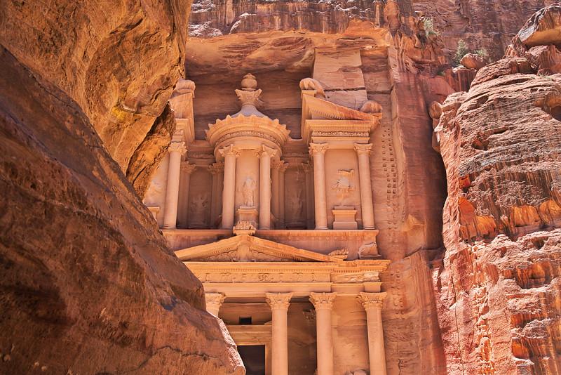 First Sighting of Petra Al Khazneh (The Treasury)
