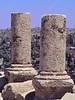 Jordan - Amman - citadel - two columns