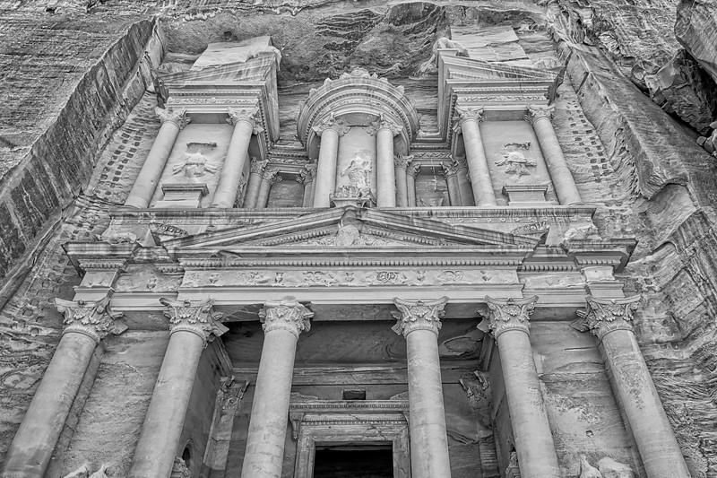 Petra Al Khazneh - A Magnificent Structure in Color or Monochrome