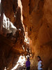 This is inside the slot canyon called Khazali.  It is quite short, but spectacular and has some Nabatean inscriptions