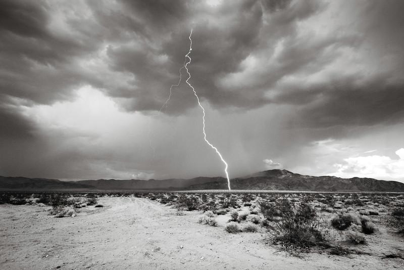 B&W Lightning Bolt - Joshua Tree National Park