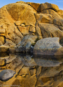 Dawn Reflections at Barker Pond, Joshua Tree NP, CA