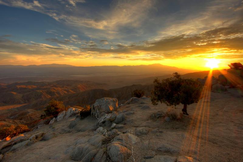 Sunset from Keys View - Joshua Tree National Park