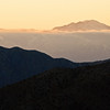 Mount San Gorgonio at sunset from Keys View. This is the highest point in Southern California at 11499 feet.