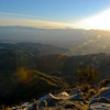 View of the Coachella Valley at sunset from Keys View