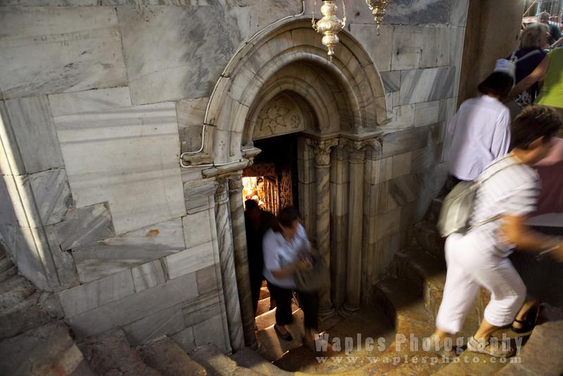 Entrance, Grotto of the Nativity, Church of the Nativity, Bethlehem