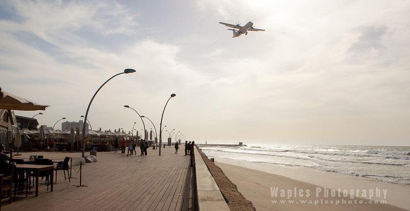 The boardwalk at Tel Aviv's port