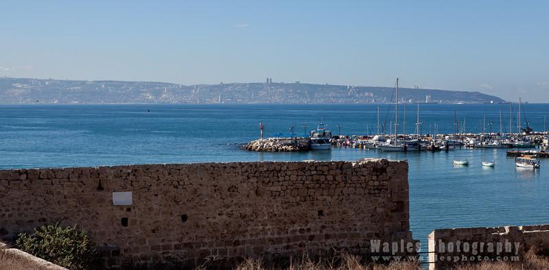 Looking toward Mount Carmel/Port of Haifa