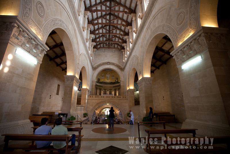 Inside the Franciscan Church of the Transfiguration