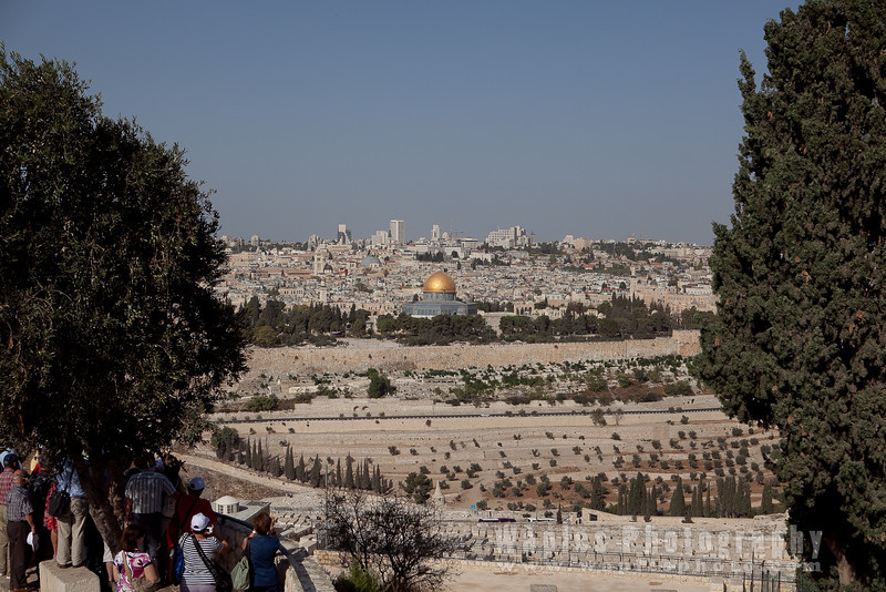 View of the Temple Mount from the Mount of Olives