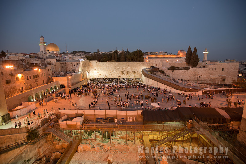 Western Wall at the beginning of the Sabbath