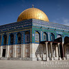 The Octagonal Dome of the Rock, an Islamic shrine