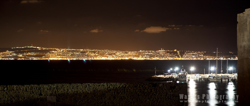 Acre Port and Haifa upon Mt. Carmel