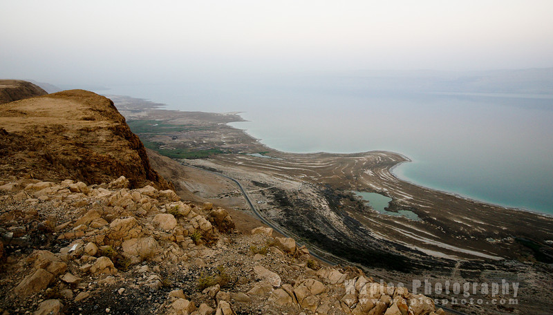 The Receding Shoreline of the Dead Sea
