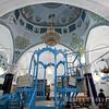The Abuhav Synagogue. Blue Bima suggests the heavens.