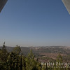 View of the Jerusalem Forest, through the Holocaust Museum Isosceles Structure