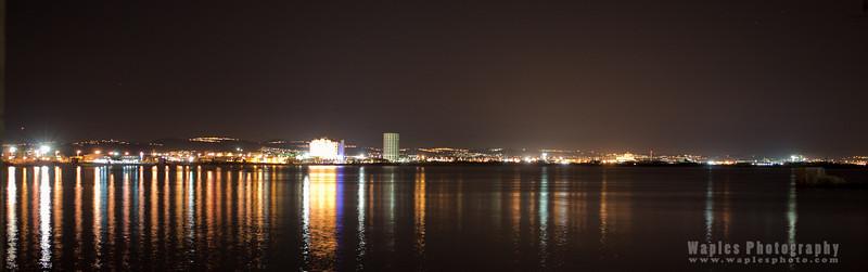 Haifa Port at Night