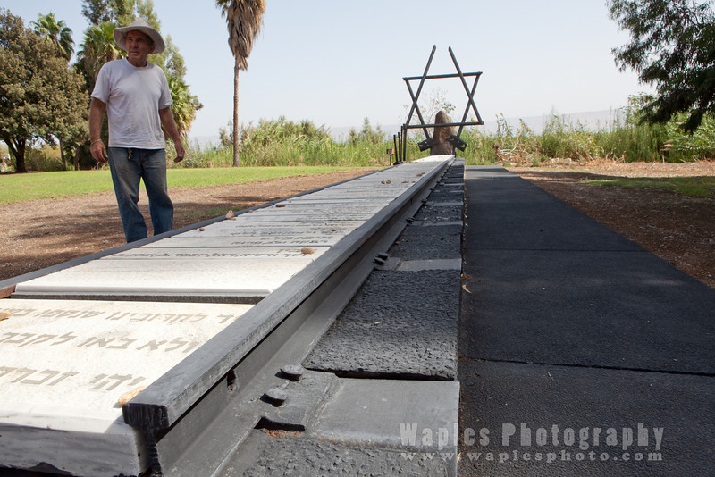 Uval Lufan at the Holocaust Memorial, Kibbutz Ginosar