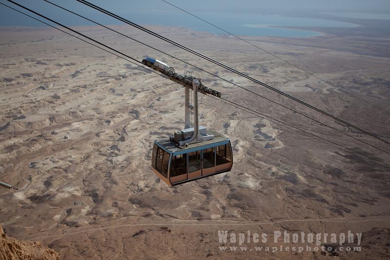 Tram Climbing to Masada and Dead Sea (Salty Sea)