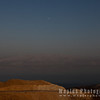 Moon, Jordanian Mountains, and Sea
