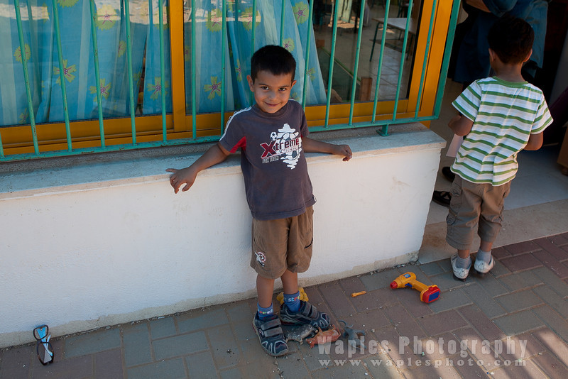 Schoolboy at Jewish-Arabic School, Kafr Qara