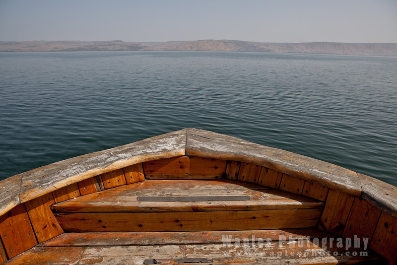 On the Sea of Galilee, elevation -686 ft.