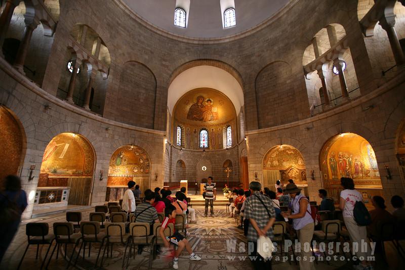 Interior of the Hagia Maria Sion Abbey