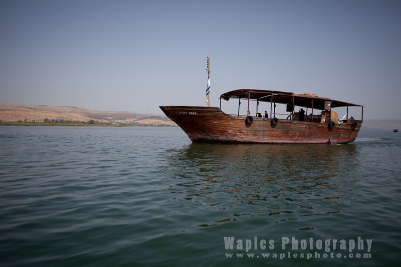 Wooden boat on the Sea of Galillee (a.k.a. Kinneret)