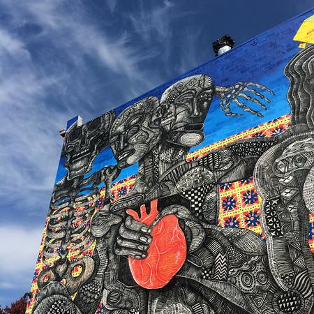 Downtown Oakland Mural from Zio Zeigler