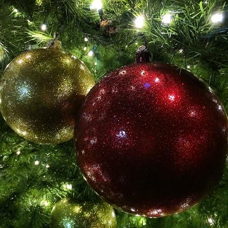 Christmas decor in Ghirardelli Square