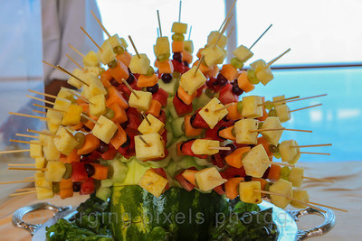 A fruit display at the Horizon Court.