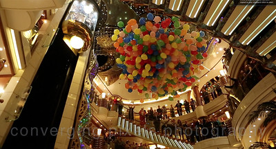 Champagne Balloon Drop Party in the Atrium.