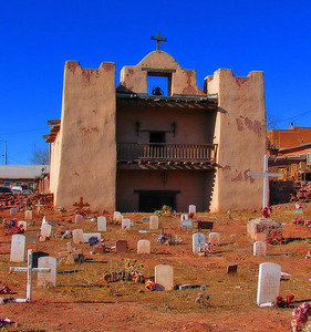 We visited the Zuni reservation south of Gallup. The Zunis have a problem with photography, so this photo of their famous old mission is an Internet ringer.