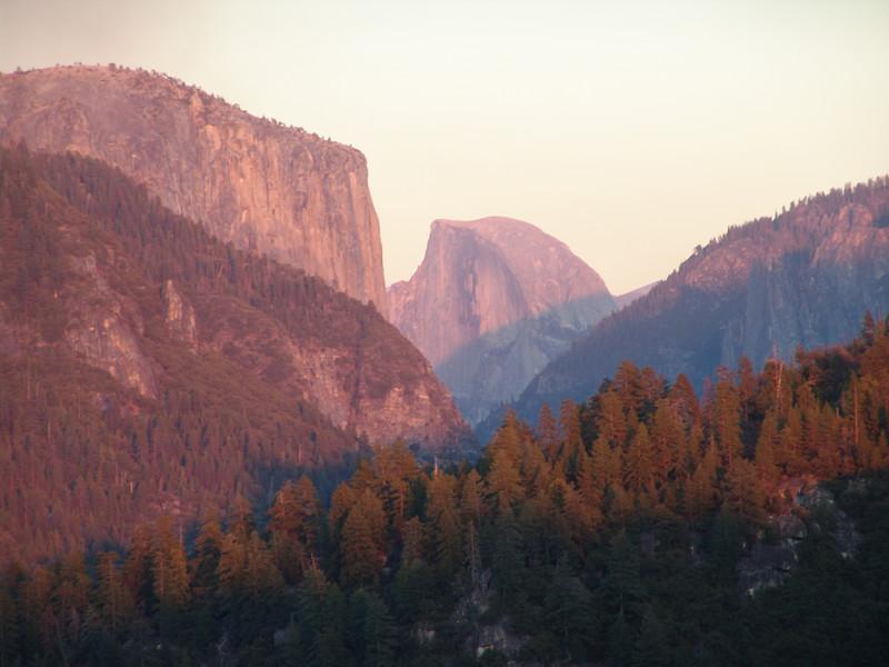 Half Dome and El Captan--Yosemite National Park