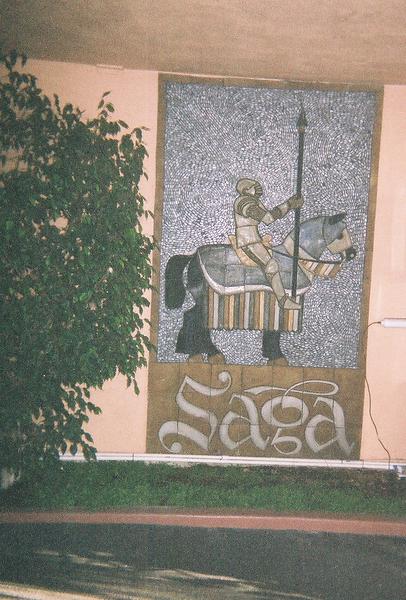 """<a href=""""http://www.thesagamotorhotel.com/"""">The Saga Motor Hotel</a> has a nifty mosaic."""