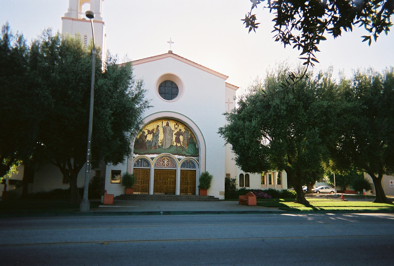 """<a href=""""http://www.stphiliptheapostle.org/"""">St. Philip the Apostle Church</a> in Pasadena has a wonderful mosaic over its main entrance."""