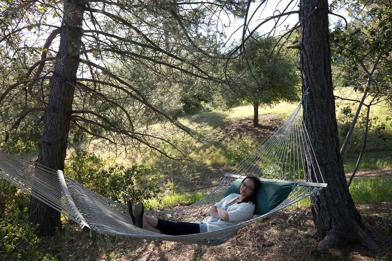 Catherine on the hammock. - shot @ ISO 160, f/5.6, 1/125 sec, on Panasonic DMC-GH2 w/ LUMIX G VARIO 7-14/F4 lens at 14 mm