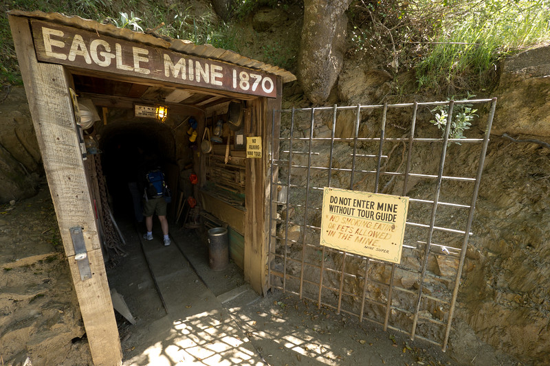 Catherine enters the Eagle Mine tour - shot @ ISO 160, f/5.6, 1/40 sec, on Panasonic DMC-GH2 w/ LUMIX G VARIO 7-14/F4 lens at 7 mm