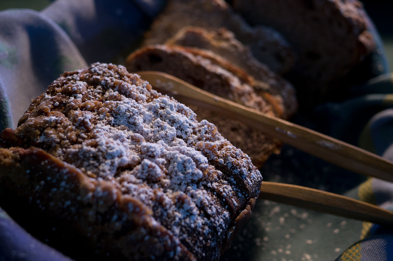 Apple bread at the breakfast buffet - shot @ ISO 320, f/2.8, 1/40 sec, on Panasonic DMC-GH2 w/ LUMIX G 20/F1.7 lens at 20 mm