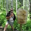 Carrying Duke down the mountain