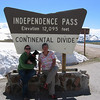 Me, Duke and Mom at Independence Pass.  July 29 - check out all the snow!